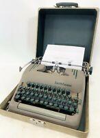 1954 Smith Corona Super WORKING CLEAN Portable Steel Manual Typewriter w/ Case