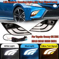 For Toyota Camry SE XSE 2018-2021 LED Daytime Running Fog Lights DRL Turn Signal