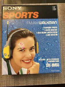 Sony Sports FM/AM Walkman Radio Headphones SRF-HM55 NEW In Box