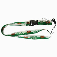 WALES GREEN WHITE COUNTRY FLAG LANYARD KEYCHAIN PASSHOLDER .. NEW