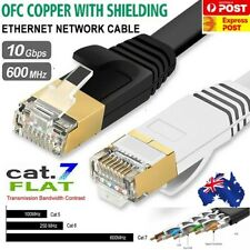 Edimax CAT7 Shielded Flat Network Cable 0.5~20M Black & White with Cable ties