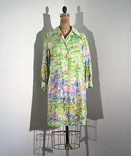 Vintage 1960s/60s New England Dock Boat Scenic Novelty Print Mod Shirt Dress