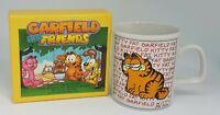 Collectible Mug & Rare 1985 Garfield & Friends Little Books By Jim Davis