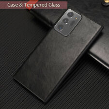 For Samsung Galaxy Note 20 Ultra Slim Leather Case Back Cover +Screen Protector