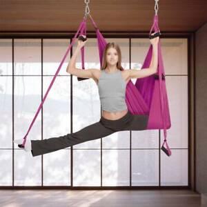 Yoga Hammock Kit Trapeze Sling Aerial Anti-gravity Inversion Fitness Swing Sling