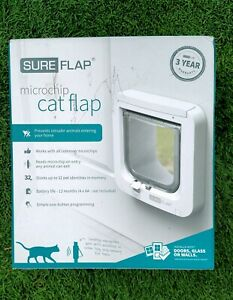 SureFlap Microchip Cat Door Pet Door Install in Doors Walls or Glass - NEW