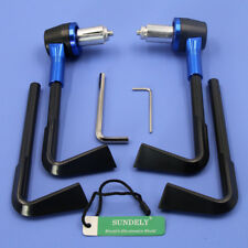 """7/8"""" Brake Clutch Lever Protector Protection Blue Hand Guard For Motorcycle"""