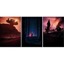 Star Wars Force Awakens limited edition poster print Marko Manev 3 set