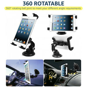 Dashboard Tablet Mount Holder in Car 360 Rotation For 7 To 11'' iPad/Samsung Tab