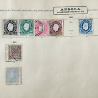 7 Timbres 1885 ANGOLA Colonie Portugal Stamps 19thC