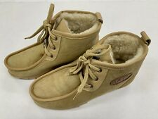 EMU Australia Ankle Boots Lace Up Size 7 Tan Suede Womens NEW