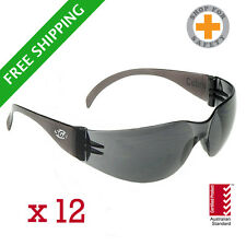 SGA Cobra Safety Glasses Smoke Lens * Bulk Buy * 12 Units * Australian Standards