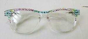 !!Wow! BLING READERS  READING GLASSES MADE WITH SWAROVSKI CRYSTALS spring hinges