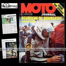 MOTO JOURNAL N°92 SIDE-CAR JUMEAUX FATH KONI KIBLER CHRISTIAN BOURGEOIS 1972