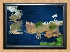 TV POSTER Game of Thrones Map Westeros A4 SIZE PRINT POSTER WALL HOME DECOR