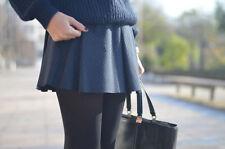 ZARA Navy Black Studio Box Pleat Mini Skirt BLOGGERS size L