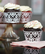 Decorative Filigree Paper Cupcake Wrappers Birthday, Shower Wedding Decorations