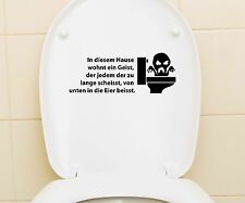 Aufkleber WC Deckel, Toiletten Tattoo, Klo Sticker, Bad Spruch, Schriftzug 3C014