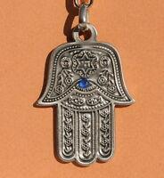 Xamca Hamsa Hand Metal KEYCHAIN Jewish Traveler Prayer in RUSSIAN Judaica Israel