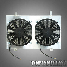 For Nissan Skyline R33 R34 2.5 2.6 Turbo Aluminum Alloy Radiator Shroud & Fans