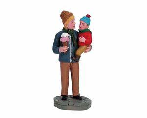 Lemax Christmas Village Sharing Ice Cream 62318 Retired Figurine Accessory