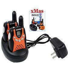 2× Retevis RT602 22CH Kids Walkie Talkie UHF 0.5W Flashlight VOX 2-Way Radio US