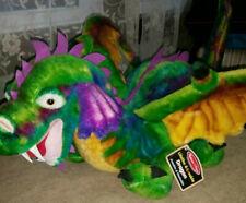 MELISSA & DOUG--Lifelike & Lovable-DRAGON--Multicolored-Posable/Washable-NWT