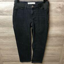 Asos Denim Womens Size 4 maternity Jeans Black Classic Crop NEW