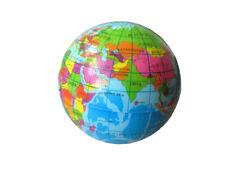 Knautschball Globus Weltkugel 6cm Stressball  Antistressball Squeeze Spielzeug