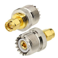 2pcs SMA Male to UHF SO-239 Female Connector Adapter for Ham Two Way Radio