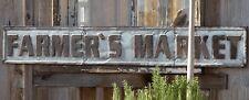 Farmhouse Sign 5FT Galvanized Embossed Farmer's Market Sign /Vintage Inspired