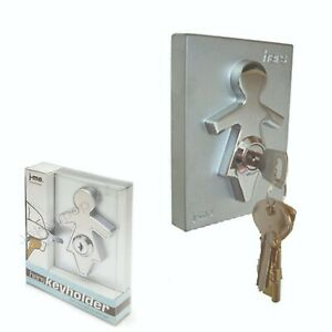 J-ME HERS KEY HOLDER COMBO PACK BNIB WALL MOUNTED STAINLESS STEEL / ABS