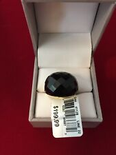 *NIB* Onyx Gold over Sterling Silver size 7 ring