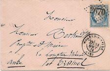 LETTRE COVER,LSC,Aube NOGENT S SEINE,GC 2670,Yv 37,31/8/1871,dernier jour tarif