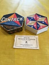 Vintage 1940s Waddington Contack Tile Game numbers tiles triangles