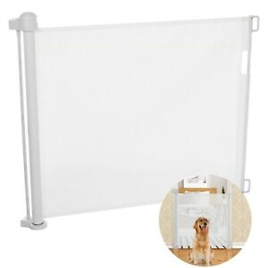 Pets Dog Cat Retractable Safety Gate Mesh Fence Home Kitchen Net Guard Indoor