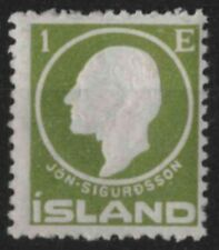 t292) Iceland. 1911. MM. SG 96 1e Green. Famous People