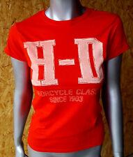 Harley Davidson Damen T-Shirt Gr. S kurzarm Rot Neu und ungetragen