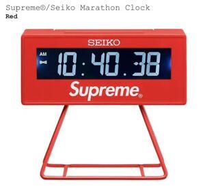 New Supreme®/Seiko Marathon Clock Red SS21 Week 9 ORDER CONFIRMED
