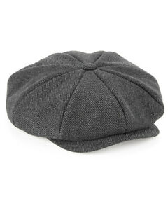PEAKY BLINDERS STYLE NEWS BOY BAKER BOY CAP HAT PAPER BOY 8 PIECE  HGB628BTC