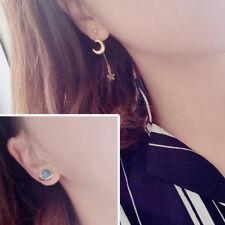 Korean Style 1 Pair Blue Planet Earrings Moon Star Drop Dangle Women Jewelry