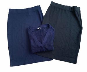 GAP Clothing Bundle Size 8 Blue Black 2 X Skirts & Cardigan Jersey Knit