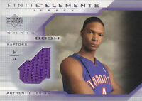 2003-04 Upper Deck Finite Elements Jerseys #FJ20 Chris Bosh RC Jersey