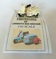 1/43 scale O gauge vintage 1960s Lambretta Scooter & Box Sidecar metal model kit