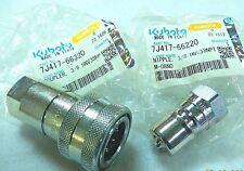 KUBOTA Loader Hydraulic Quick Couplings #6 - 7J417-66220 + 7J417-66320 (1 set)