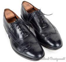 ALLEN EDMONDS Black Solid Leather Wingtip Oxford Mens Dress Shoes - 11.5 E