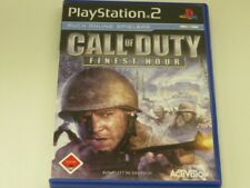 !!! PLAYSTATION PS2 SPIEL Call of Duty Finest Hour USK18 TOP !!!