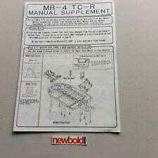 Yokomo MR-4 TC-R Instruction Manual Supplement, Rare, Used.
