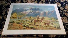 Harold L. Hopkinson Limited Edition Lithograph Western Art Print Artist S/N