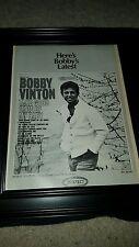 Bobby Vinton Take Good Care Of My Baby Rare Original Promo Poster Ad Framed!